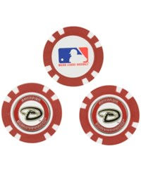 Team Golf Arizona Diamondbacks 3 Pack Poker Chip Markers Red