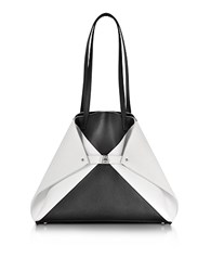 Akris Ai Medium Black And White Reversible Leather Tote Bag