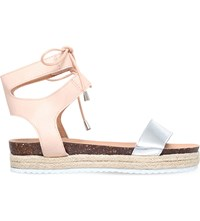 Miss Kg Peony Laced Espadrille Sandals Nude