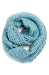 Women's Echo Mixed Stitch Infinity Scarf Blue Blue Bird