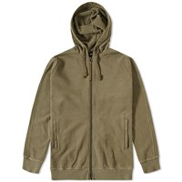 Mhi Maharishi Raw Cross Zip Hoody Green