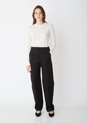 The Row Taylor Washed Cotton Drill Pant Black
