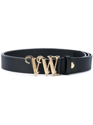 Vivienne Westwood Red Label Logo Buckle Belt Women Calf Leather One Size Black