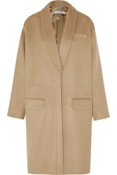 Givenchy Coat In Camel Cashmere And Wool Blend Beige