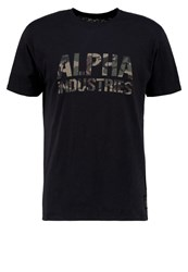 Alpha Industries Print Tshirt Balck Woodland Black