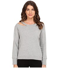 Lna Cueva Pullover Heather Grey Women's Long Sleeve Pullover Gray