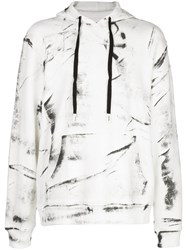 Haculla Hand Painted Hoodie White