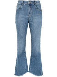 Spacenk Nk Flared Jeans Trousers Blue