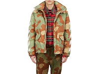 Off White Men's Camouflage Down Jacket Green No Color
