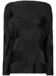 Capucci Contrast Ribbed Detail Top Black