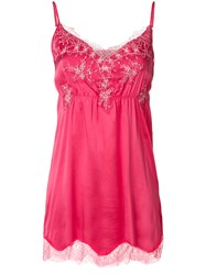 Pink Memories Floral Lace Insert Mini Dress Pink And Purple