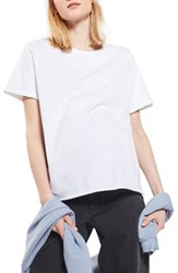 Topshop Women's Nibbled Maternity Tee White