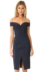 Nicholas Bandage Cold Shoulder Dress Navy
