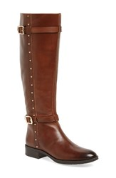 Vince Camuto Women's 'Preslen' Riding Boot Brown Leather Wide Calf