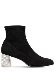 Sophia Webster 60Mm Felicity Stretch Suede Ankle Boots Black