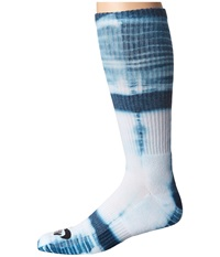 Nike Tie Dye Dri Fit Skate Crew White Blue Force Black Crew Cut Socks Shoes