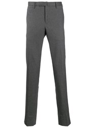 Incotex Micro Check Suit Trousers Grey