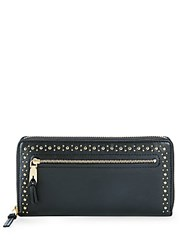 Cole Haan Marli Studded Leather Wallet Pink Nude