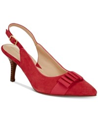 Adrienne Vittadini Shandy Pumps Women's Shoes Persimmon