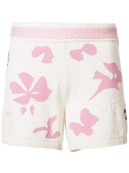 Barrie Moon Flowers Shorts White