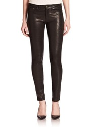 Rag And Bone The Leather Skinny Jeans Washed Black