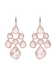 Monica Vinader Rp Siren Chandelier Rose Quartz Earrings Pink