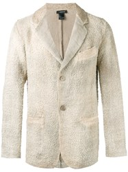 Avant Toi Chest Pocket Textured Blazer Nude Neutrals