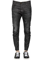 Dsquared 17Cm Tidy Biker Stretch Denim Jeans