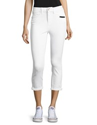 Buffalo David Bitton Solid Skinny High Rise Jeans White