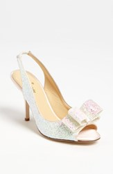 Women's Kate Spade New York 'Charm' Slingback Pump White Multi Glitter