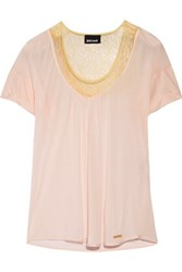 Just Cavalli Lace Trimmed Modal Top Baby Pink