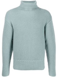 Tom Ford Cashmere Ribbed Sweater Blue