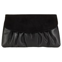 Jacques Vert Suede Clutch Bag Black