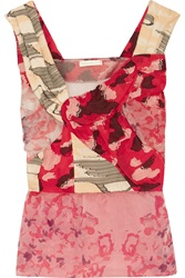 Michael Van Der Ham Lily Floral Print Organza And Fil Coupe Top
