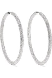 Carolina Bucci Florentine 18 Karat White Gold Hoop Earrings