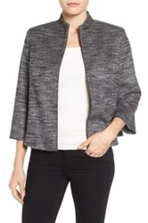 Emerson Rose Funnel Neck Zip Front Jacket Gray
