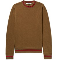 Givenchy Stripe Tried Wool Sweater Brown