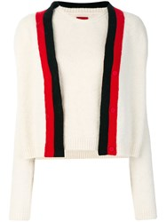Moncler Gamme Rouge Two Piece Knitted Top Polyamide Cashmere Wool Virgin Wool White