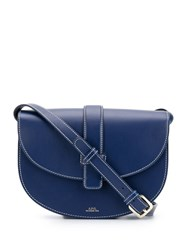 A.P.C. Saddle Handbag Blue