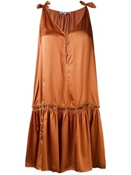 Harare Loose Fit Dress Women Silk M Nude Neutrals