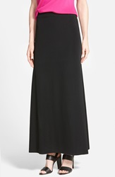 Ming Wang A Line Knit Maxi Skirt Black