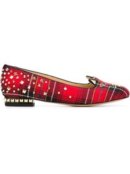 Charlotte Olympia 'Punk Kitty' Slippers Red