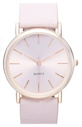 Junior Women's Bp. Round Face Watch 35Mm Light Pink Rose Gold