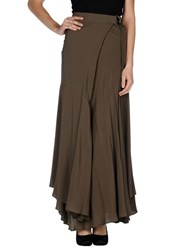 Space Style Concept Skirts Long Skirts Women Military Green
