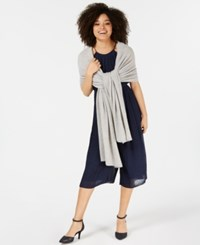 Charter Club Pure Cashmere Oversized Scarf Ice Grey Heather