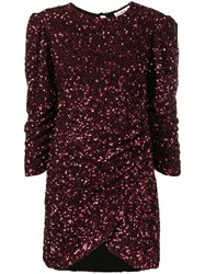 Ainea Sequinned Ruched Dress Purple