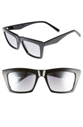 Kendall Kylie Kamilla 53Mm Square Sunglasses Black Smoke Gradient Flash Black Smoke Gradient Flash