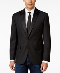 Ryan Seacrest Distinction Men's Slim Fit Black Textured Geo Evening Jacket Only At Macy's