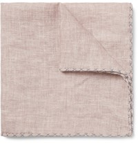 Brunello Cucinelli Linen Pocket Square Beige