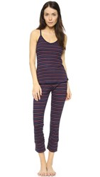 Splendid Capri Stripe Pj Set Navy Stripe